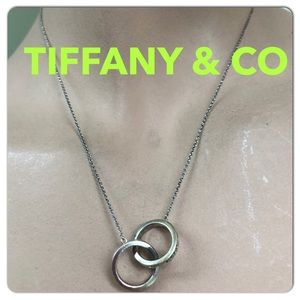 🔴Authentic TIFFANY & CO Double Hoop Necklace ❤️🔴
